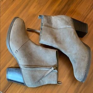 Old Navy Gray Faux Suede booties